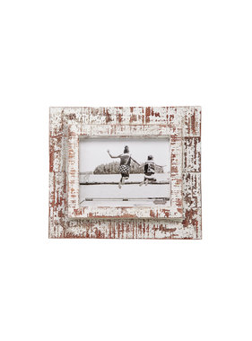 Mud Pie 8x10 white distressed frame
