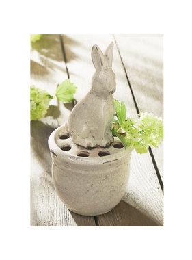 Mud Pie Bunny pot vase