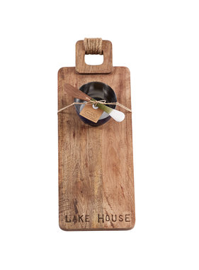 Mud Pie Lake house board with dip cup