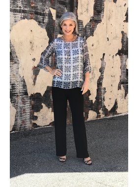 Charlie B Fluid sleeve printed blouse