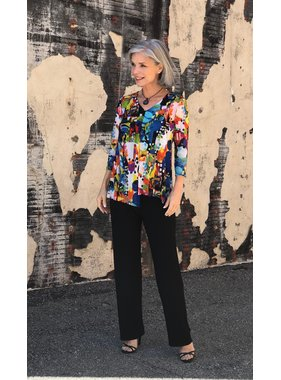 Soft works Multi Colored Asymmetrical Tunic