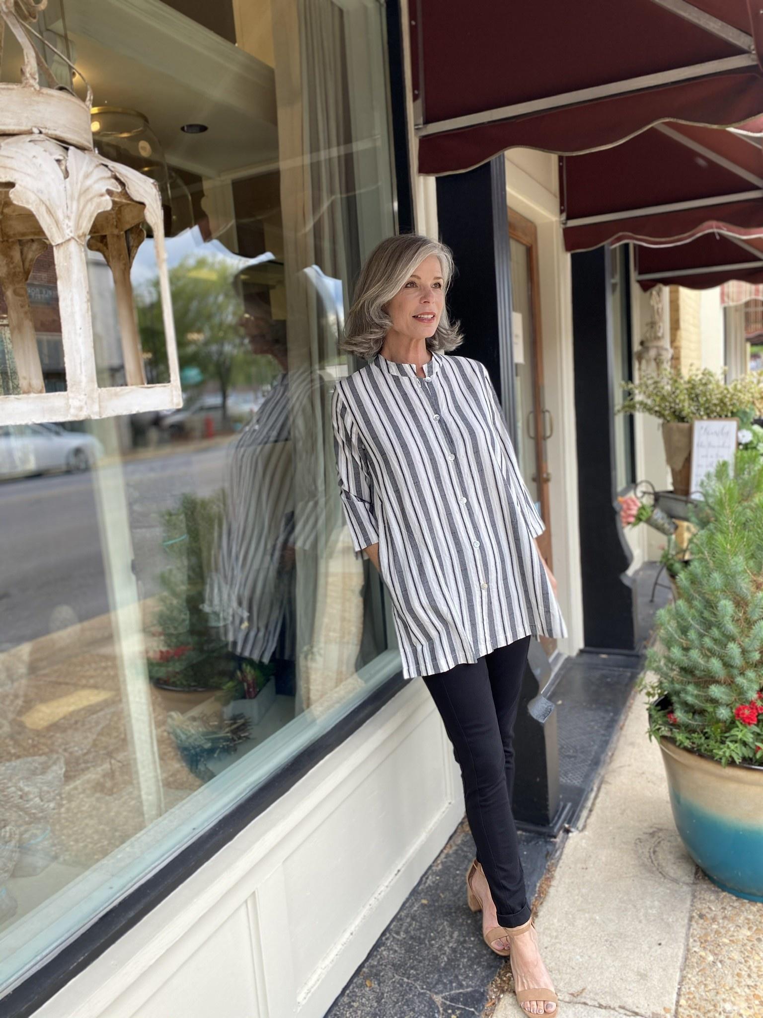 Mosaic Clothing Mosaic Striped Jacquard Shirt