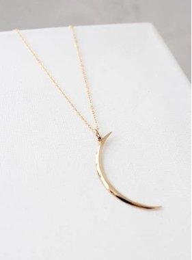 Katie Waltman Thin Brass Crescent Necklace