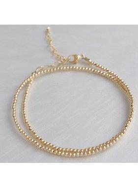 Katie Waltman 2 MM Gold Filled Double Wrap Bead Bracelet