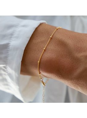 Katie Waltman Petite Gold Filled Ball Chain Bracelet