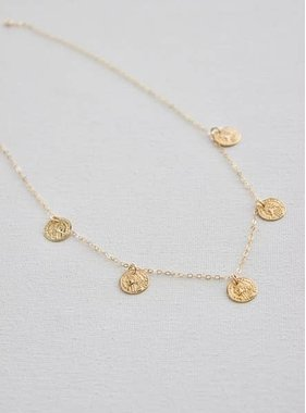 "Katie Waltman 16"" Gold Filled Chain with Gold Coin Dangles"