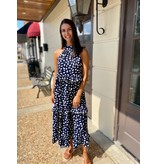 Fascination Spotted Halter Maxi Dress