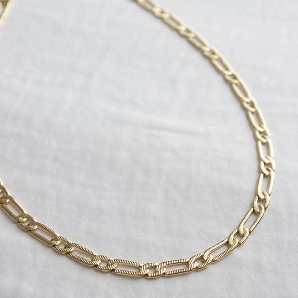 "Katie Waltman 24kt gold plate Cleopatra Chain - 13"" - 15"""