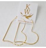 Katie Waltman Hammered Heart Silhouette Earrings