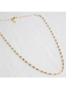 Katie Waltman Gold filled tube link simple chain