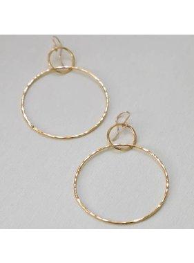 Katie Waltman Double Hammered Silhouette Hoop Earrings