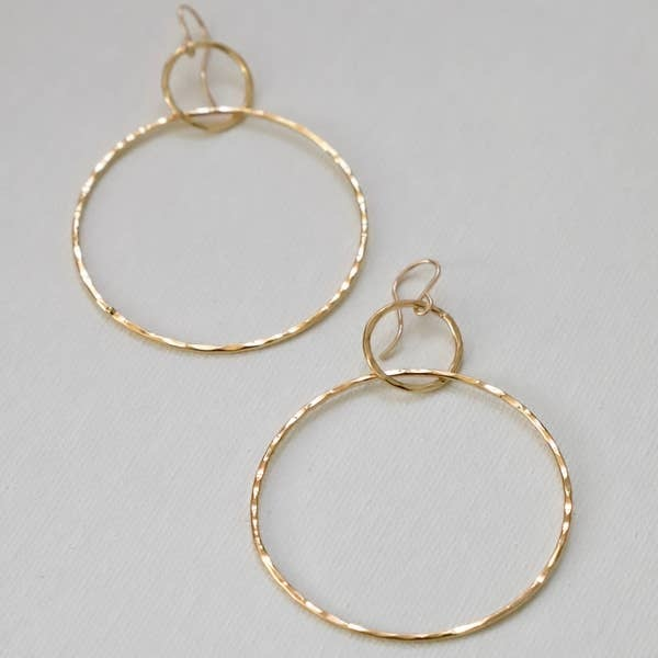 Katie Waltman Double Hammered Silhouette Hoop Earrings
