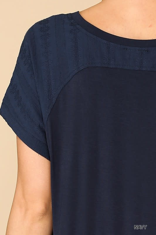 Gigio V Neck tiered back tunic top