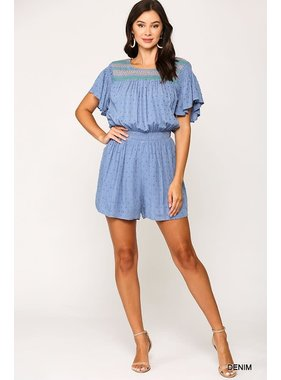 Gigio Smocked yoke detail romper