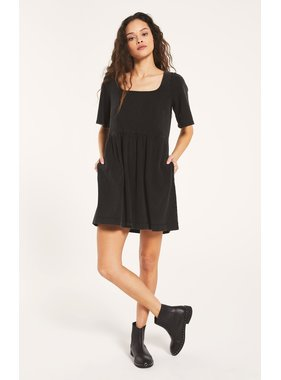 Z Supply Prairie Jersey Black Dress