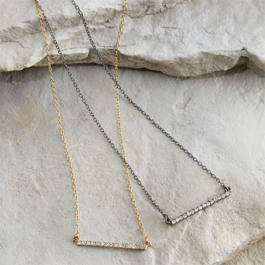 Mud Pie Pave bar necklace