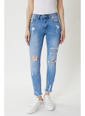KanCan Med wash distressed jean
