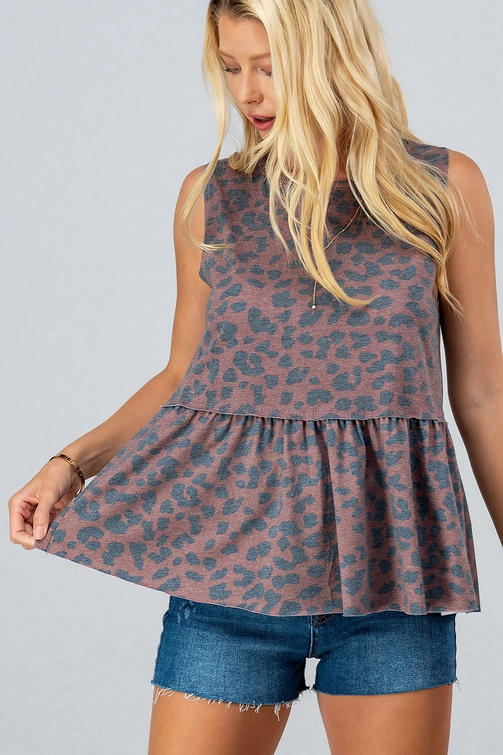 Trend:Notes Leopard babydoll tunic