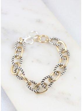 Caroline Hill Spruce cable link bracelet