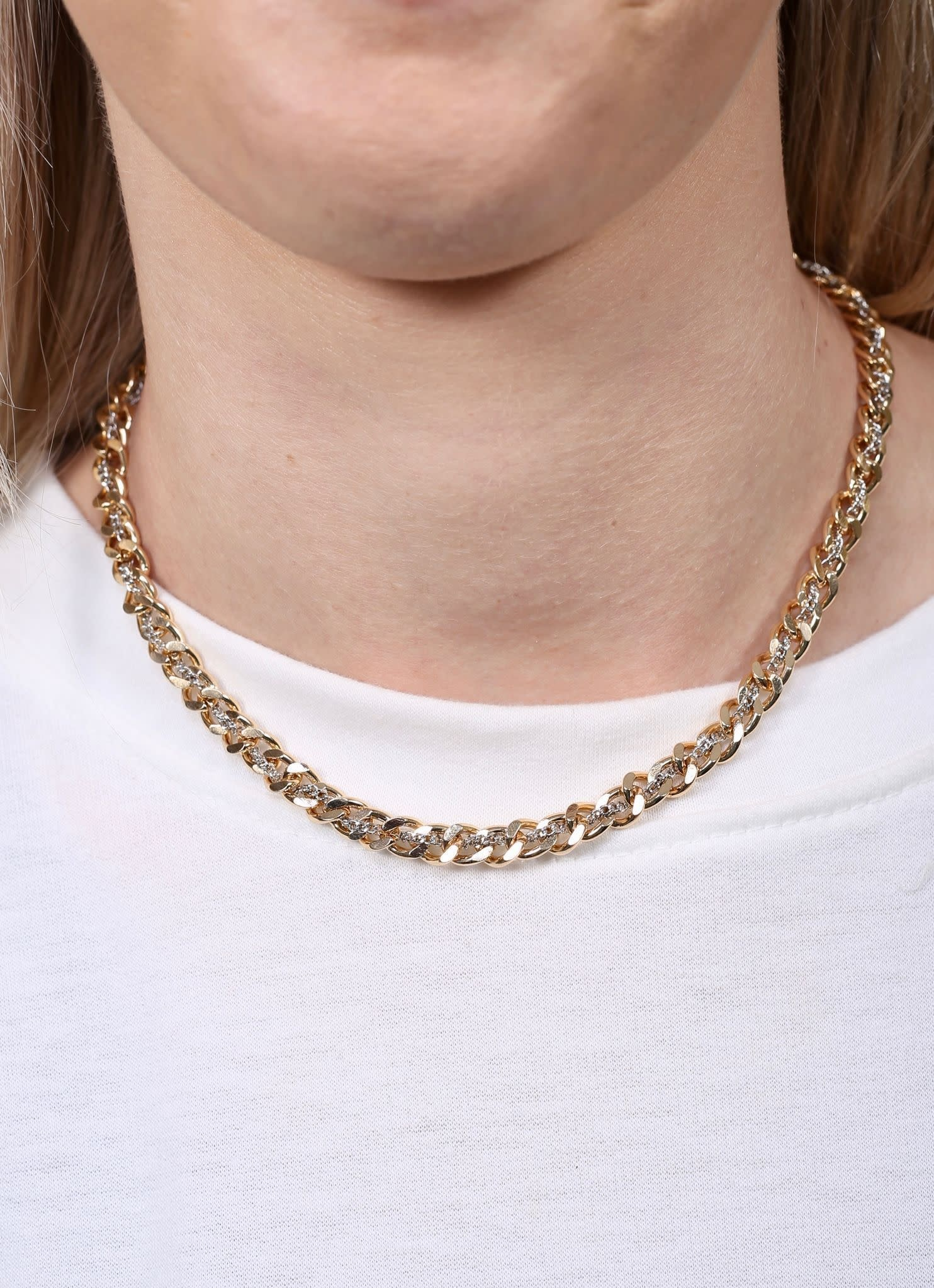 Caroline Hill Rafe Dual Tone Chain Link Necklace