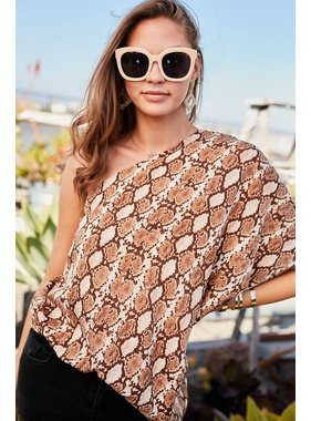 Main Strip Unblanc Snake Print Top