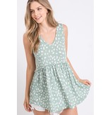 First  Love Dotted Babydoll Top