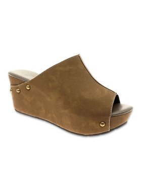 Miami Shoe Natural Slip on Wedge