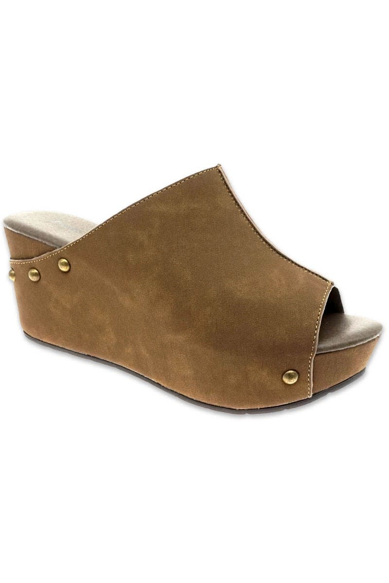 Miami Shoe Natural Slip on Wedge