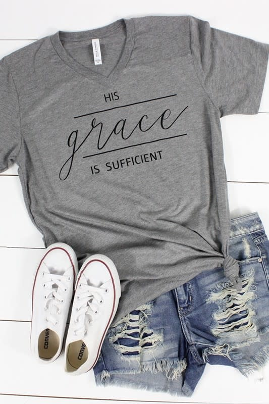 Glittering South His Grace V Neck Tee