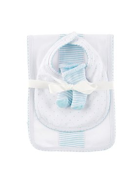Mud Pie Blue Burp Bib & Sock Set 10190106