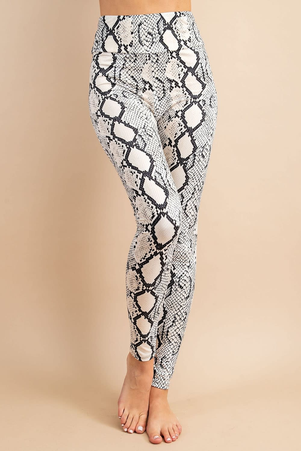 eesome usa Snake Print High Waisted Leggings