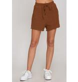 She + Sky Rib Knit Shorts