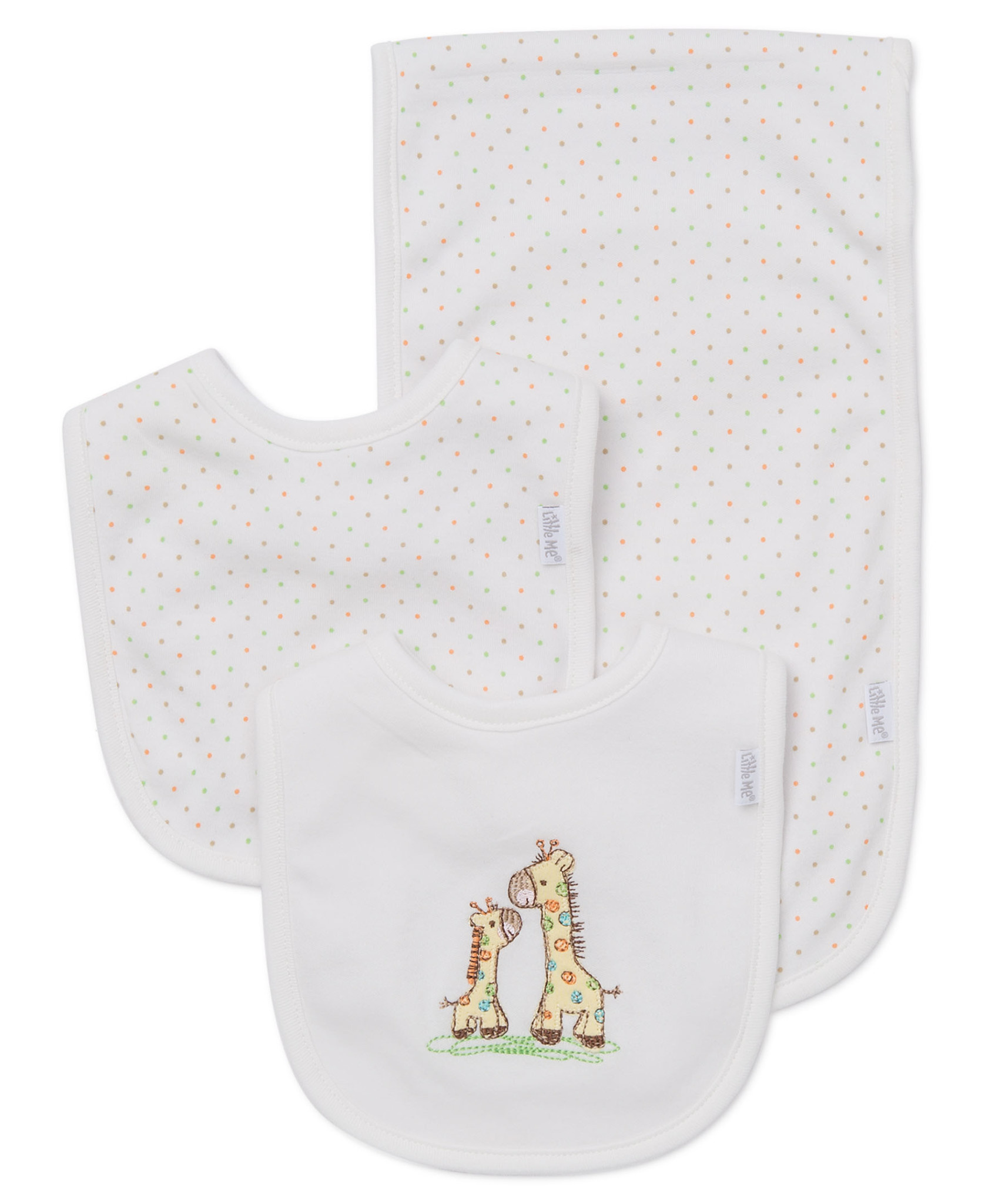 Little Me Giraffe Bib-Burp