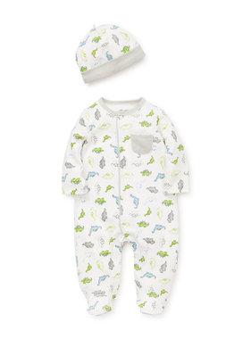 Little Me Tiny Dino Footie/Hat