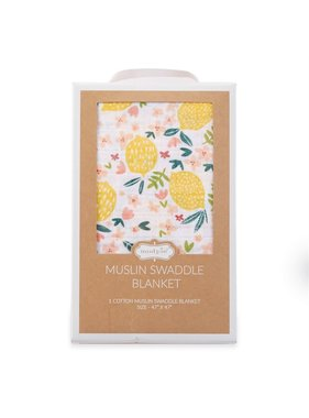 Mud Pie Lemon Floral Swaddle