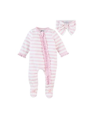 Mud Pie Stripe Sleeper headband set 0-3m