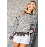 eesome usa Textured Knit Sweater