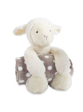 Mud Pie Lamb Plush w/ Blankie
