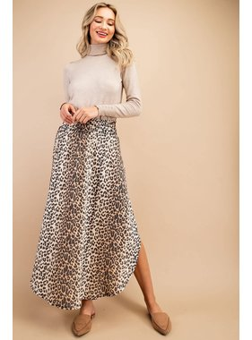 eesome usa Cheetah Print Maxi Skirt