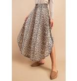 eesome usa Cheetah Print Maxi Skirt