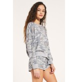 Z Supply Elle Rose Camo L/S Sweatshirt