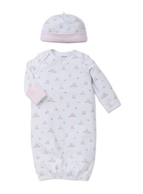 Little Me Baby Bunnies Gown/Hat 0/3 month
