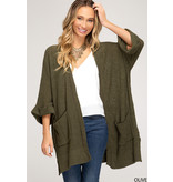She + Sky Open front sweater cardigan
