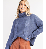 Glam Cable Turtleneck sweater