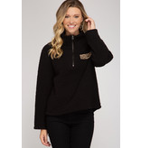 She + Sky Pullover with front zipper SS4536