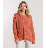 Umgee Cable Knit Sweater