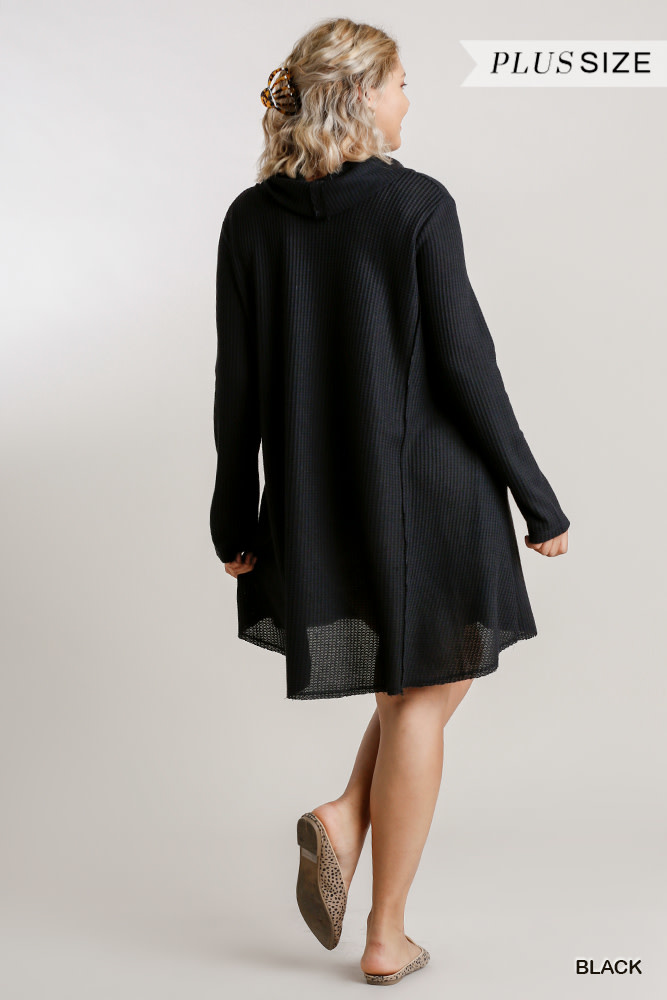 Umgee Waffle knit ls turtleneck dress