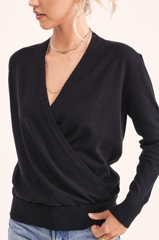 La Miel Amelia Wrap Sweater