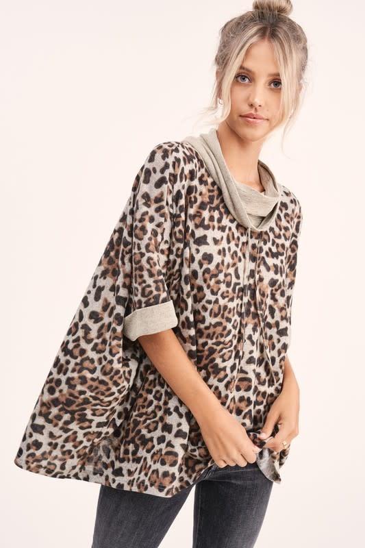 La Miel Mischa Leopard Top