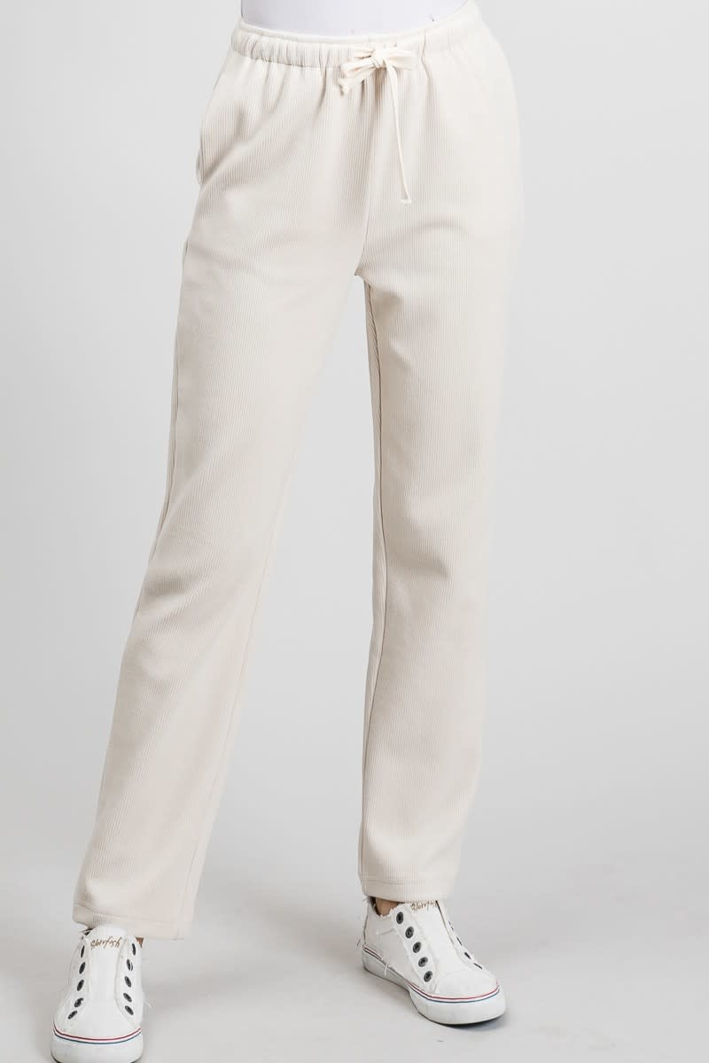 Allie Rose Stretch corduroy lounge pants